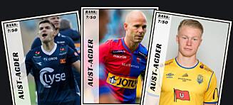 Dagbladet kårer de 50 beste fotballspillerne fra Aust-Agder