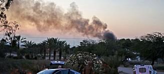 Luftangrep mot mål langs hele Gaza-stripen