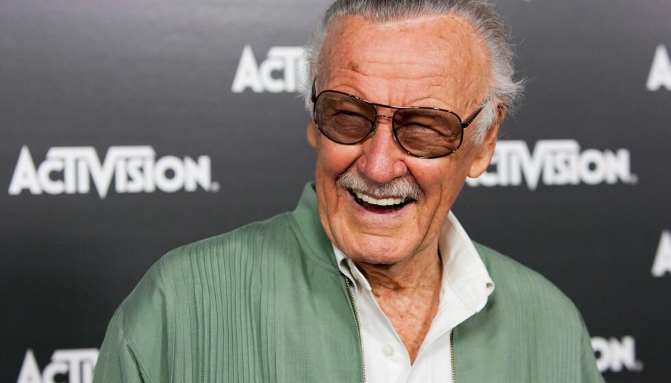 GIKK BORT: Tegneserielegenden Stan Lee gikk bort mandag morgen. Her er han avbildet i 2010. Foto: NTB Scanpix