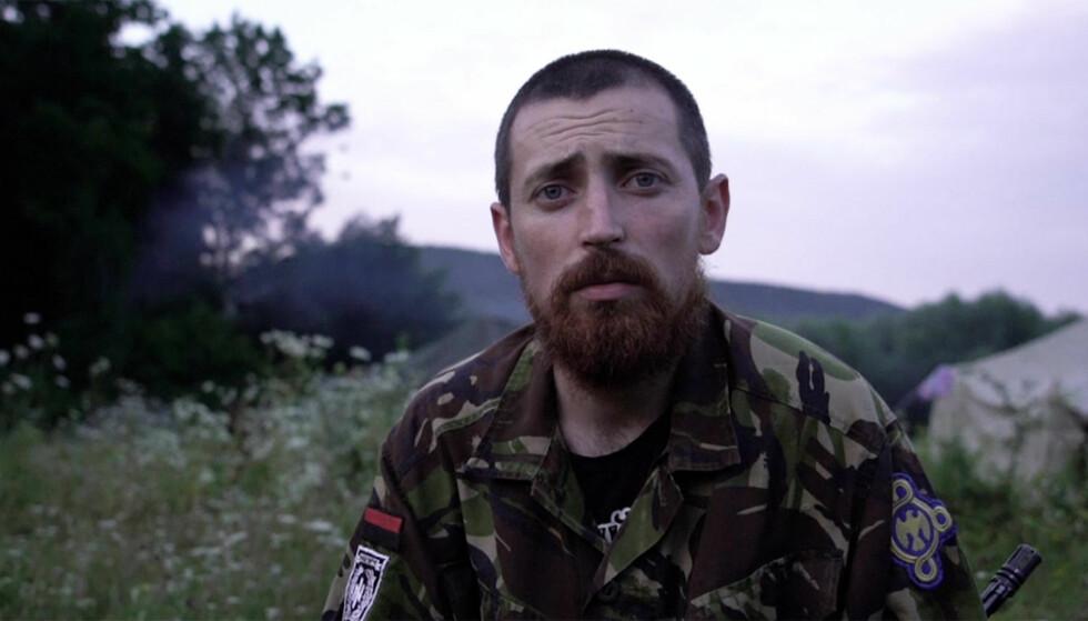 Yuri Cherkashin er instruktør på den ukrainske nasjonalistleiren. Foto: AP