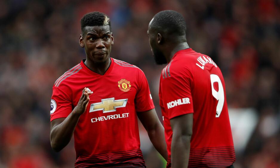 UNNGÅR REGELEN: Paul Pogba og Romelu Lukaku går under spillere som er «homegrown». Foto: Reuters/Carl Recine/NTB Scanpix