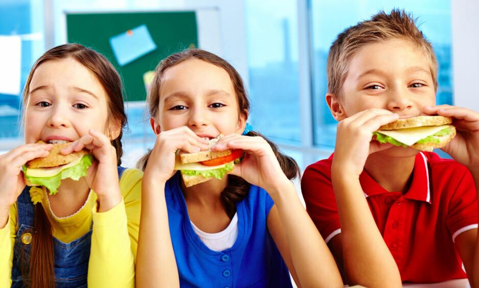 GAVEPAKKE: En enkel ordning med brød, frukt og melk vil være en gavepakke for norske barn og foreldre, for skolen, og i kampen mot forskjeller, skriver innsenderne. Foto: Shutterstock / NTB Scanpix