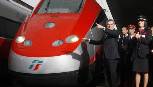 RASKEST I EUROPA: Italia har Europas raskeste tog. Foto: NTB Scanpix