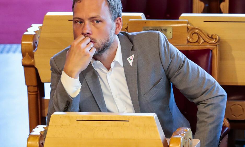 TAR FEIL: Audun Lysbakken mener EØS-avtalen fører til press på fagorganiseringen og dumping av lønninger. Er dette riktig? spør Jan Erik Grindheim i Civita. Foto: Lise Åserud / NTB Scanpix