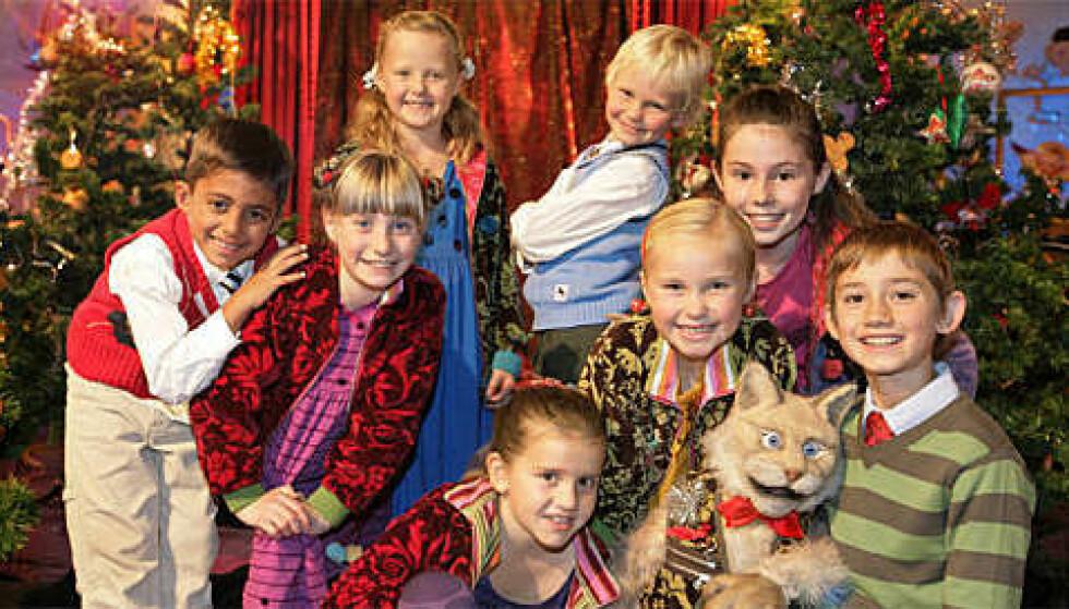 PROGRAMLEDERE: Barna hadde selv styringen i «Barnas Superjul». Foto: Ole Kaland/NRK