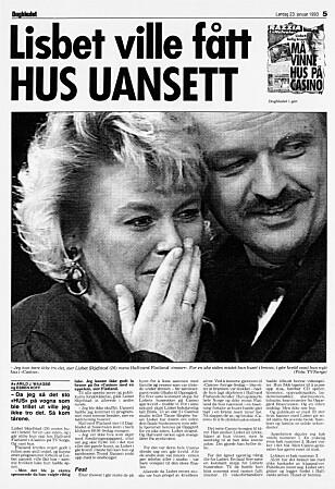 TÅRER: - Da jeg så det sto «HUS» på vogna som ble trillet ut, kunne jeg ikke tro det. Så kom tårene, lød ingressen til Dagbladets sak. Faksimile: Dagbladet 23. januar 1993
