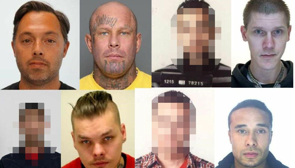 ETTERLYSTE: Politiet går ut med felles etterlysning av tolv menn i hele norden. Foto: ENFAST