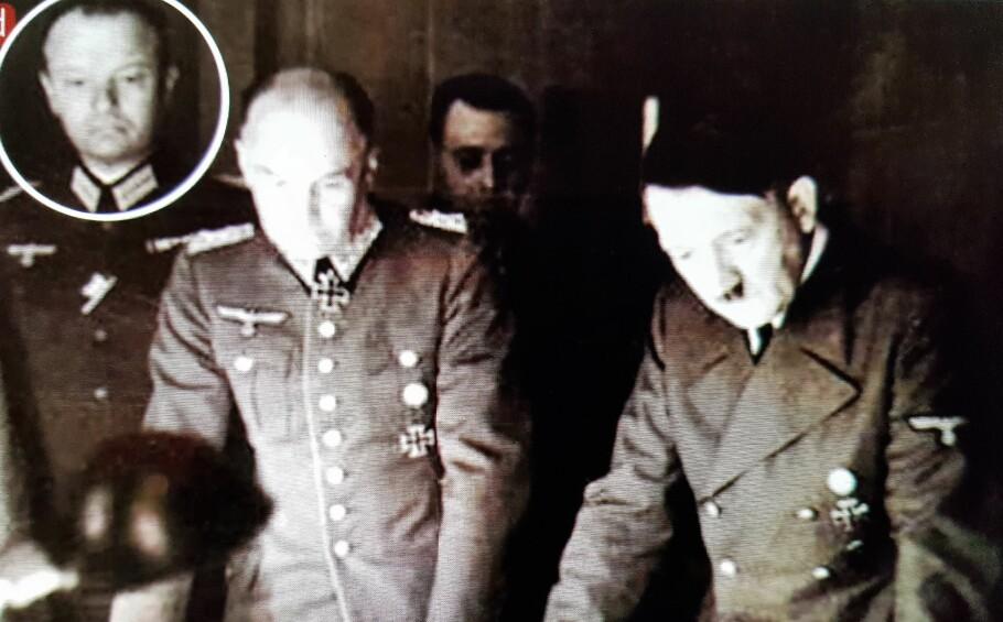 HITLERS RÅDGIVER: Bernhard von Lossberg fotografert mens han tjenestegjorde i Hitlers generalstab. Foto: Tysk propaganda