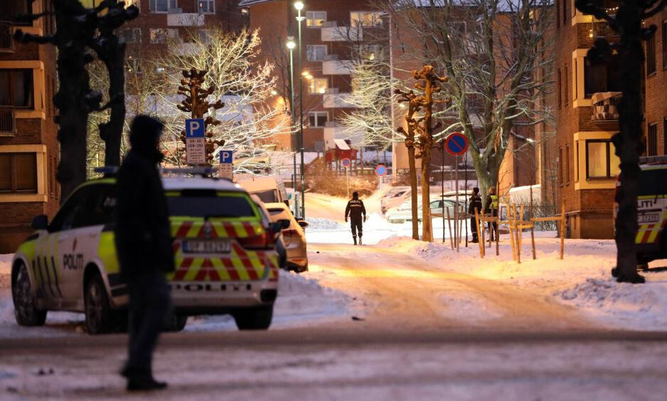 VOLDSHENDELSE: Politiet har kontroll på fire menn, etter en voldshendelse på Torshov i Oslo. Foto: Dagbladet
