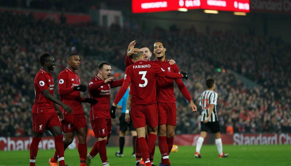 HERJER: Liverpool fortsetter å herje på toppen av Premier League-tabellen. I dag ble serieledelsen økt ytterligere. Foto: AP Photo/Jon Super