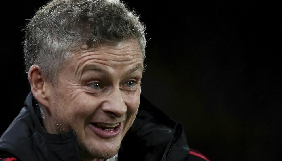 VINNER OG VINNER: Ole Gunnar Solskjær har gjort alt riktig siden han kom til Manchester United før jul. Ifølge Morten P's profetiske skråblikk på fotballåret 2019 vil det fortsette gjennom året, alt til norske mediers store glede og Liverpool-fansens frustrasjon. Nicklas Bendtner blir sittende fast i fotlenka, Øystein Stray Spetalen vil gjøre alt han kan for å hjelpe YNWA-familien, og nedfallet av det gir Kjetil Rekdal managerjobben i Leeds. Og Edvartsen, vel, han er Edvartsen. Han gjør søksmålene mot NFF til næring. Foto: AP Photo/Jon Super