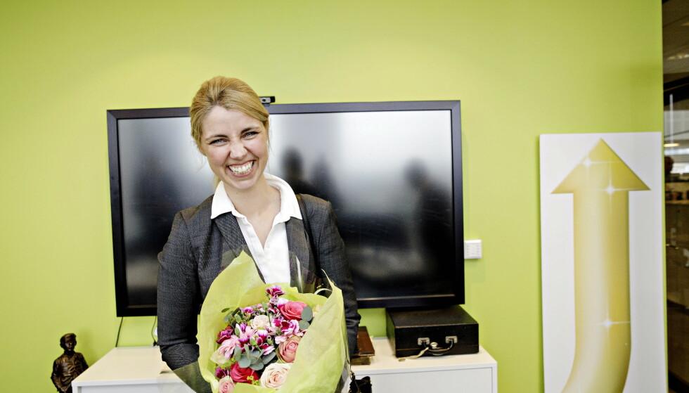 IMPONERT: Sjefredaktør i Dagbladet, Alexandra Beverfjord er svært fornøyd med avisens vekst. Foto: Nina Hansen / Dagbladet