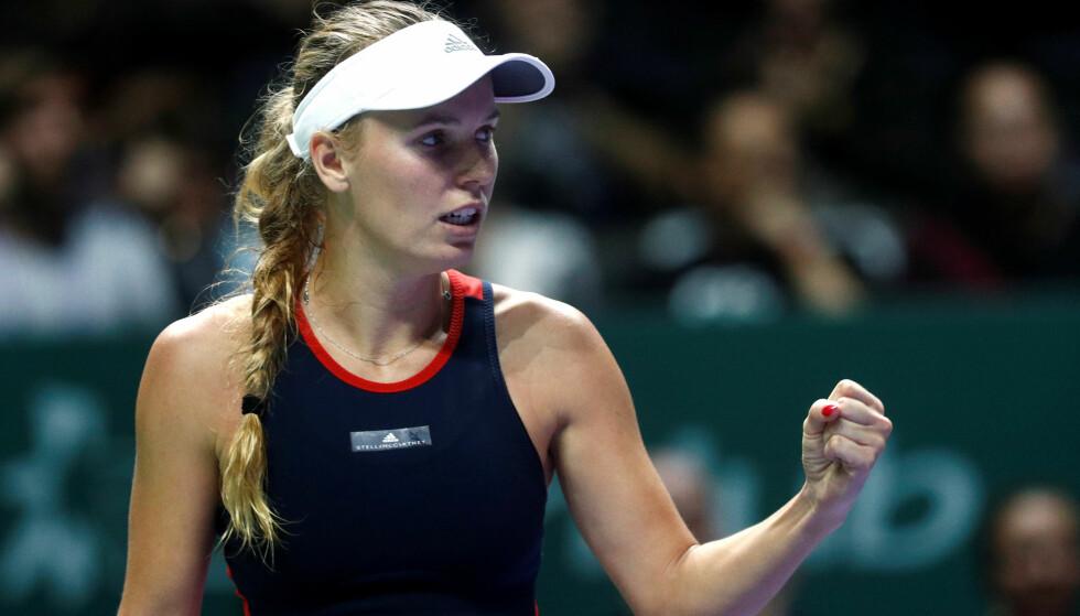 GOD: Caroline Wozniacki er en av verdens beste tennisspillere. Foto:  REUTERS/Edgar Su