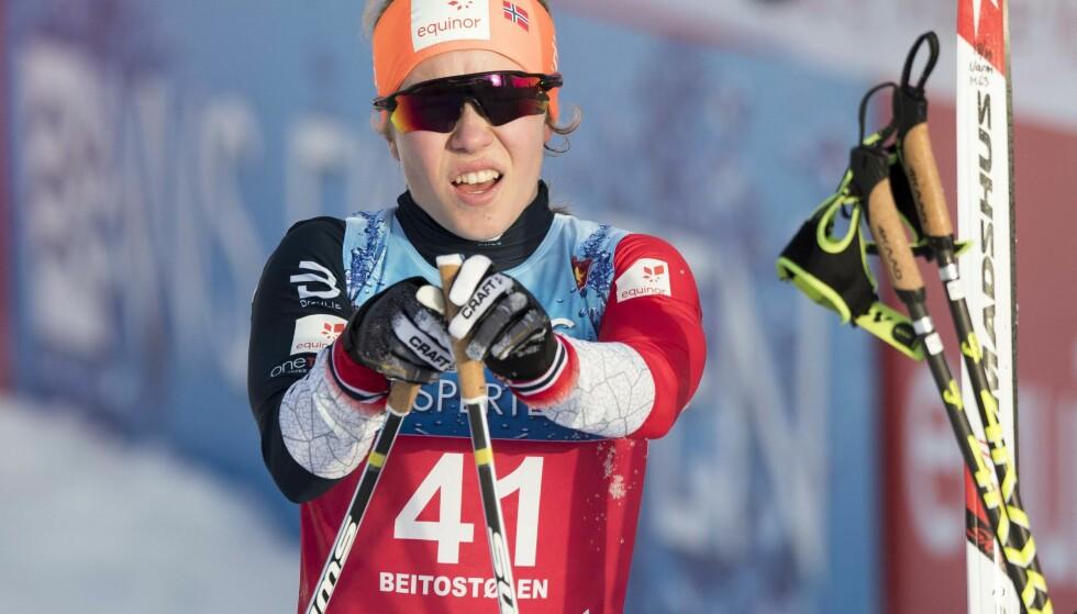 NORMAL BEHANDLING: 17 år gamle Helene Marie Fossesholm har tidligere fått hjelp til å bli noen centimeter høyere. Det ble til enda en norsk dopingsak på fronten til svenske Expressen. FOTO: Terje Pedersen / NTB scanpix.