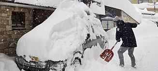 Sju omkommet i snøkaos i Sentral-Europa - og det er ventet mer snø