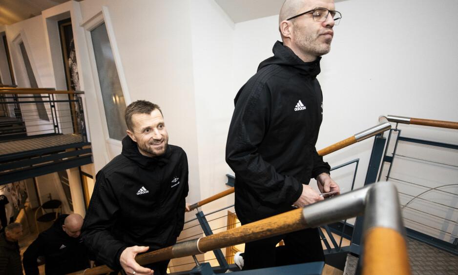 OFFENSIV: Eirik Horneland ble i dag presentert som Rosenborgs nye hovedtrener og gikk svært offensivt ut. Foto: Ole Martin Wold / NTB scanpix