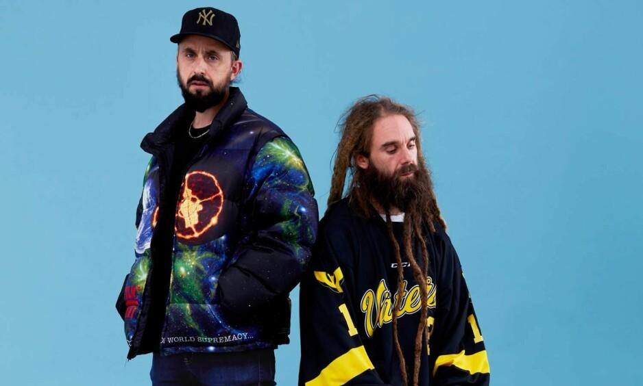 FIGHT THE POWER: De skandinaviske rapkollegaene Don Martin og Promoe slår seg sammen på albumet «Public Enemy». Foto: Mathias Fossum.