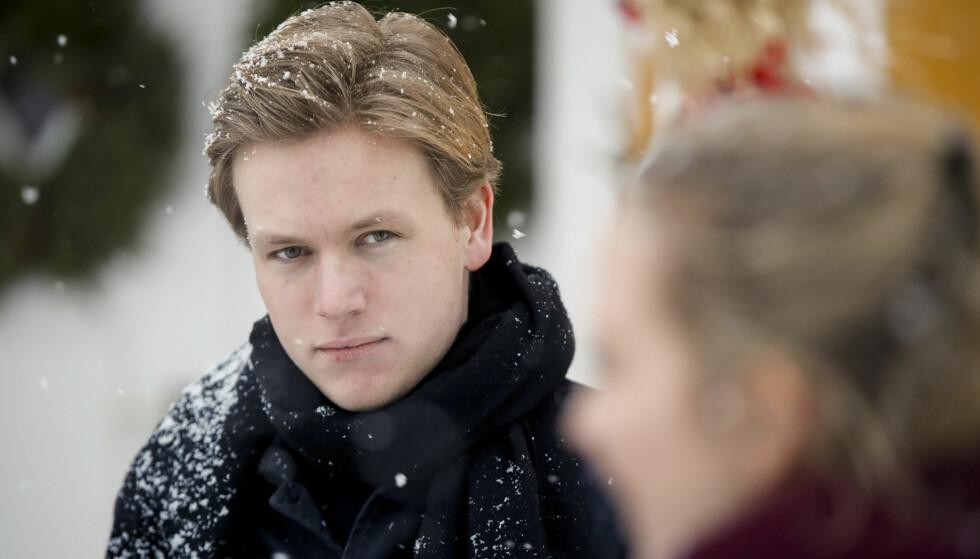 VIL HA MER SKATT: Unge Venstre-leder Sondre Hansmark går mot regjeringen hans eget parti sitter i. Foto: Vidar Ruud / NTB scanpix