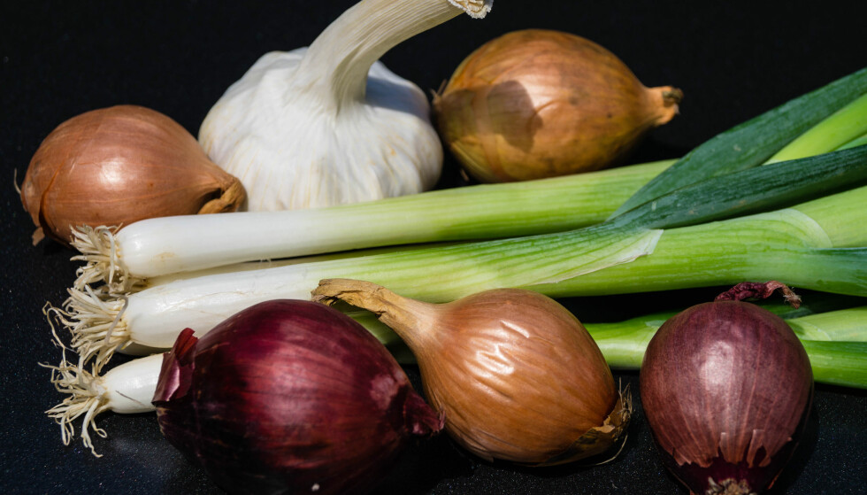 KAN GI MAGEVONDT: Løk inneholder mye fruktan, stoffet som kan være årsaken til mageplager hos mange som tror de er glutensensitive. Foto: NTB Scanpix/Shutterstock