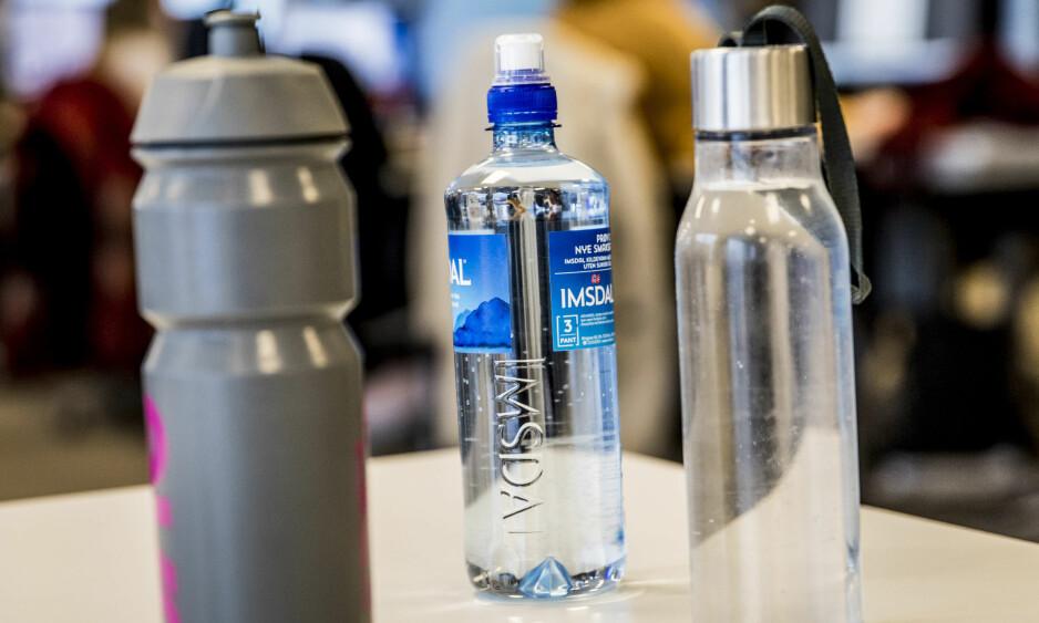 UHYGIENISK: Forsker Ida Skaar anbefaler at man unngår å bruke engangsflasker om igjen. Foto: Christian Roth Christensen