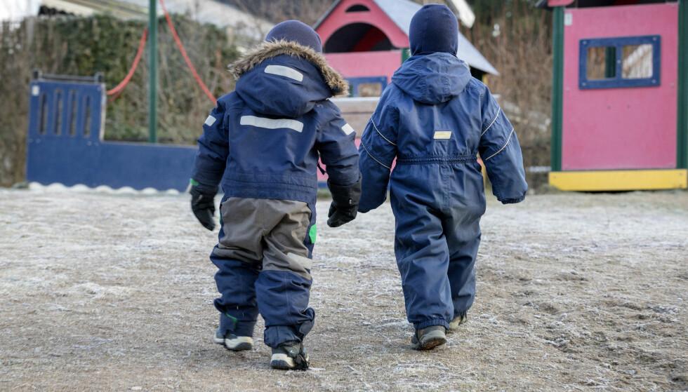 Store forskjeller: Forskningsprosjektet GoBAN viser at det er stor forskjell i hvor godt barna passes på når de er i barnehagen - men hva slags sikkerhetstiltak kan man egentlig forvente som forelder? Bildet er et illustrasjonsfoto. Foto: Gorm Kallestad / NTB scanpix