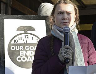 UNG AKTIVIST: Den svenske 16-åringen Greta Thunberg er blitt internasjonalt kjent for sin klimastreik. Her under klimatoppmøtet i Katowice i Polen i desember. Foto: Alik Keplicz / NTB Scanpix