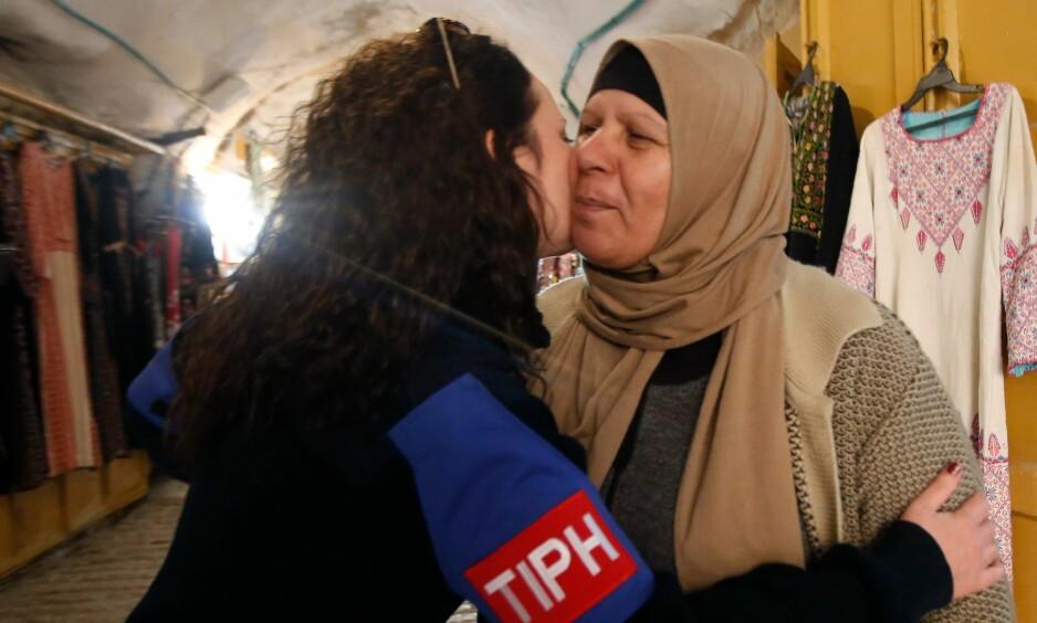 TAKK OG FARVEL: Til mange palestineres sorg vil ikke Benjamin Netanyahu fornye mandatet til TIPH i Hebron. Foto: Hazem Bader/ AFP/NTB Scanpix