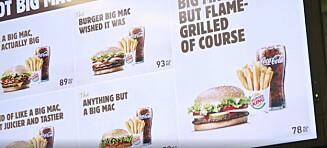 Burger King med frekt stikk til McDonald's