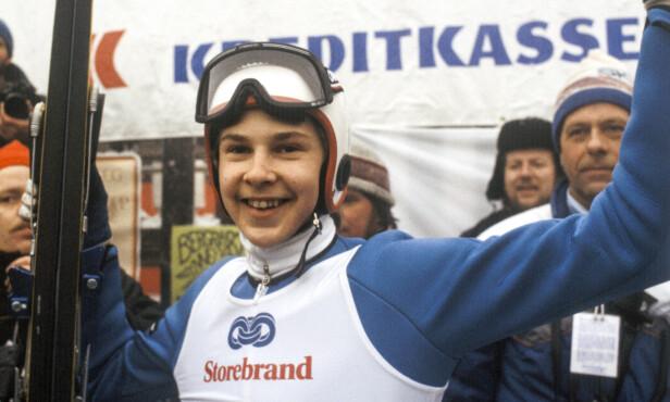 PÅ TOPPEN: Matti Nykänen var omtrent umulig å slå i hoppbakken på 80-tallet. Her under VM i Holmenkollen i 1982. Foto: NTB scanpix .