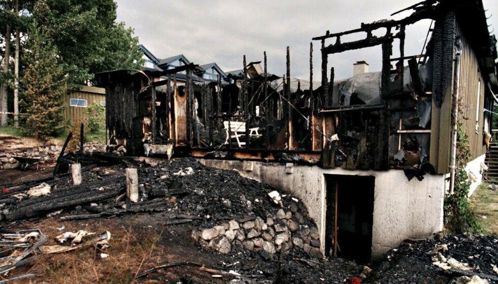ÅSTED: Marie-Louise Bendiktsen ble funnet voldtatt og drept i brannruinene av sitt eget hjem. Foto: Jan-Morten Bjørnbakk