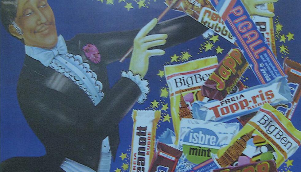 NORSKTOPPEN: Mange av bestselgerne i sjokoladehylla kom før Annen verdenskrig. Foto: Mondelez/Freia