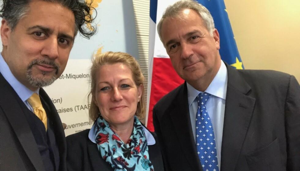 DISKUTERER FREMMEDKRIGERE: Abid Raja, Aude Bono-Vandrome fra Frankrike og Makis Voridis fra Hellas. Foto: Privat