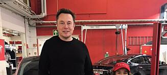 Rita (9) fikk møte Elon Musk