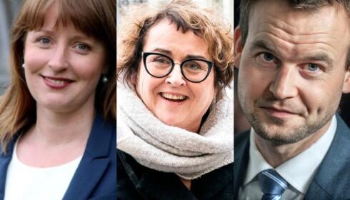 TROIKA: Her er KrFs nye partiledertrio. Fra venstre: Nestlederne Ingelin Noresjø og Olaug Bollestad og partileder Kjell Ingolf Ropstad. Valgene skjer på landsmøtet i april.