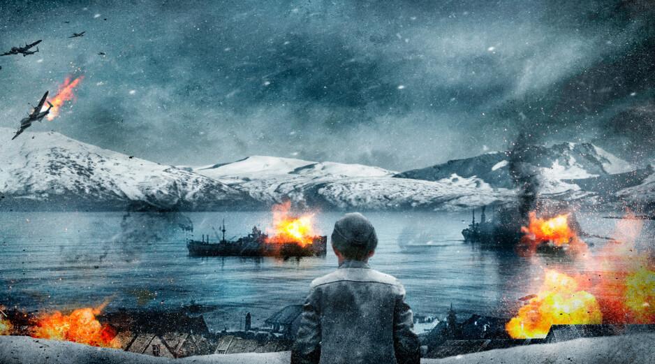 ILLUSTRERT: Et konseptbilde fra filmen om slaget i Narvik i 1940. Foto: Nordisk Film