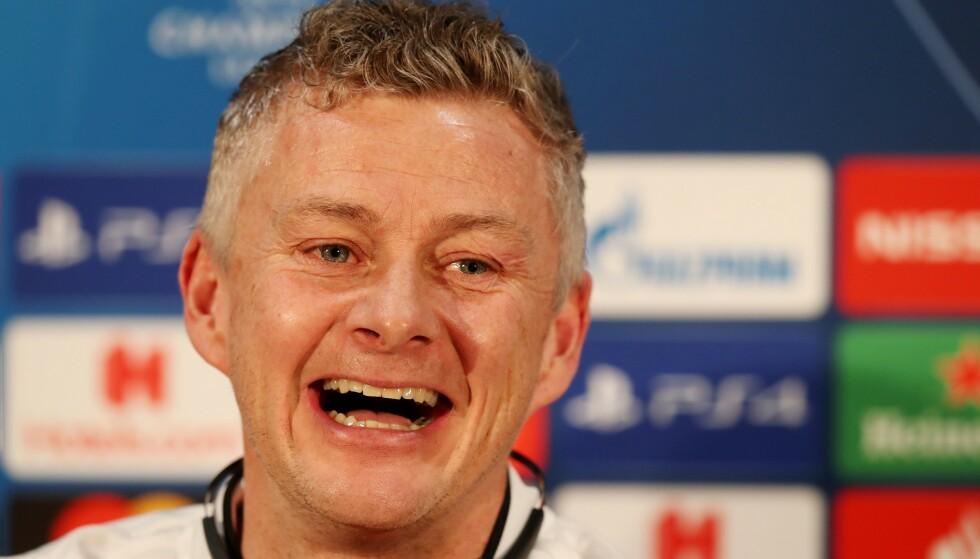 SPRÅKTRØBBEL: Ole Gunnar Solskjær forsøkte seg på et norsk uttrykk på pressekonferansen før kveldens kamp mot Chelsea. Foto: PAUL CURRIE/BPI/REX/SHUTTERSTOCK