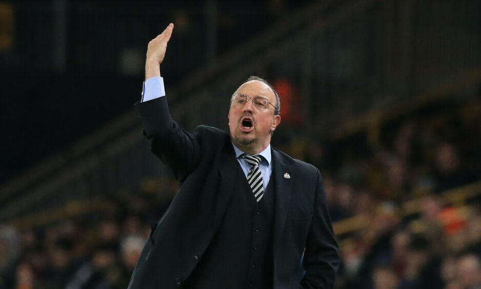 MANAGER: Rafael Benitez og Newcastle så ut til å vinne, men så raknet alt langt på overtid. Foto: NTB scanpix
