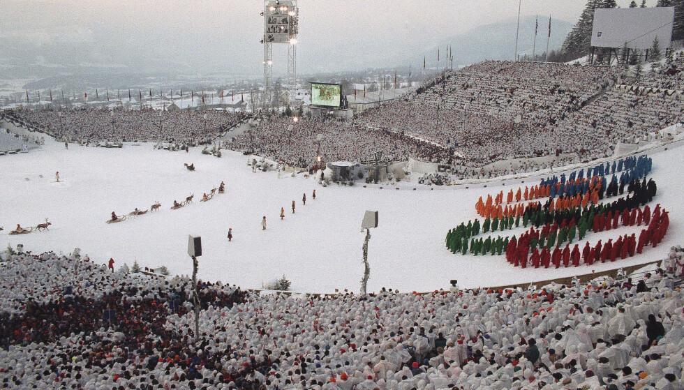 NY FOLKEFEST? Dette bildet er fra forrige gang Norge arrangerte OL, på Lillehammer i 1994. Foto: AP.