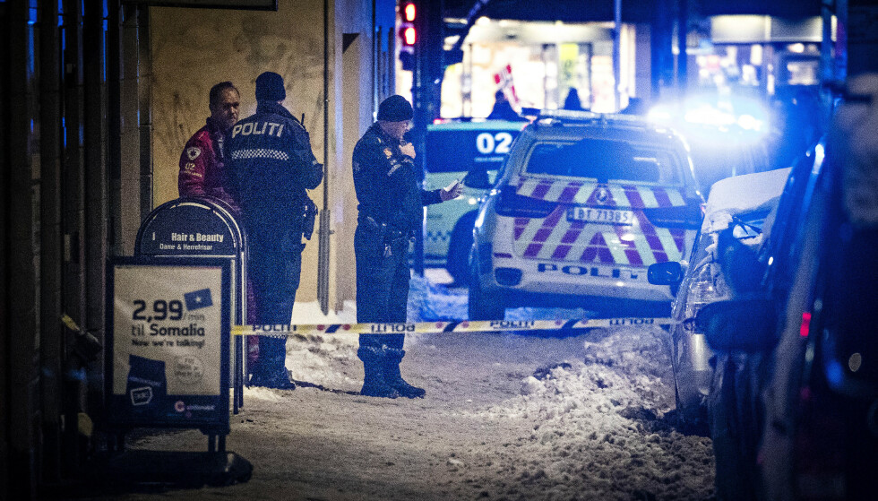 5. FEBRUAR: Knivstikking i Motzfeldts Gate, like ved Grønland torg, i Oslo. Foto: Bjørn Langsem / Dagbladet