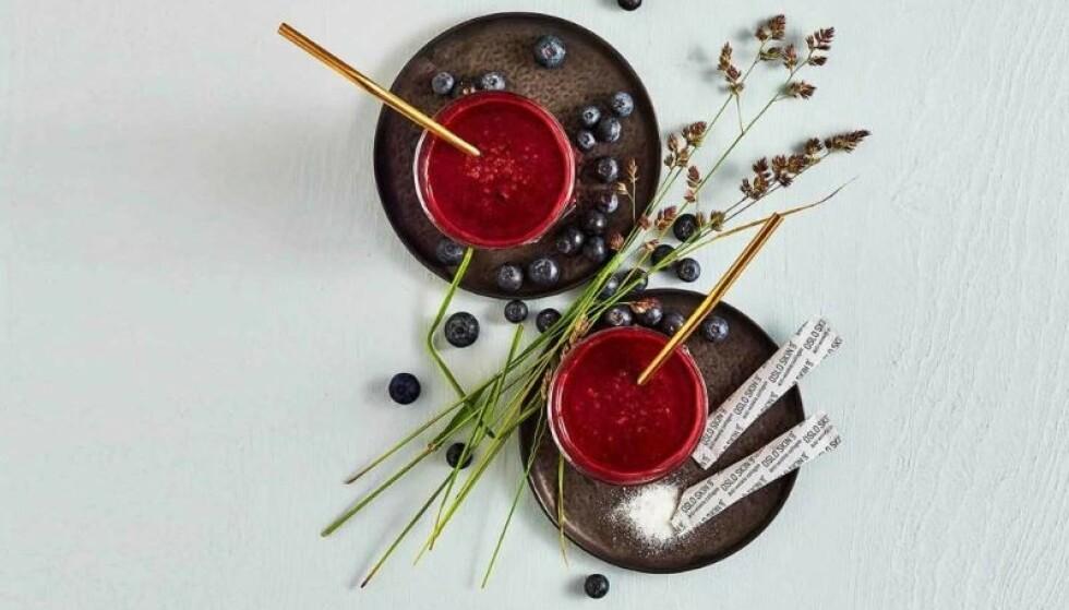 ENKELT Å TA: Du kan blande The Solution i smoothien eller yogurten din, eller i et glass vann.