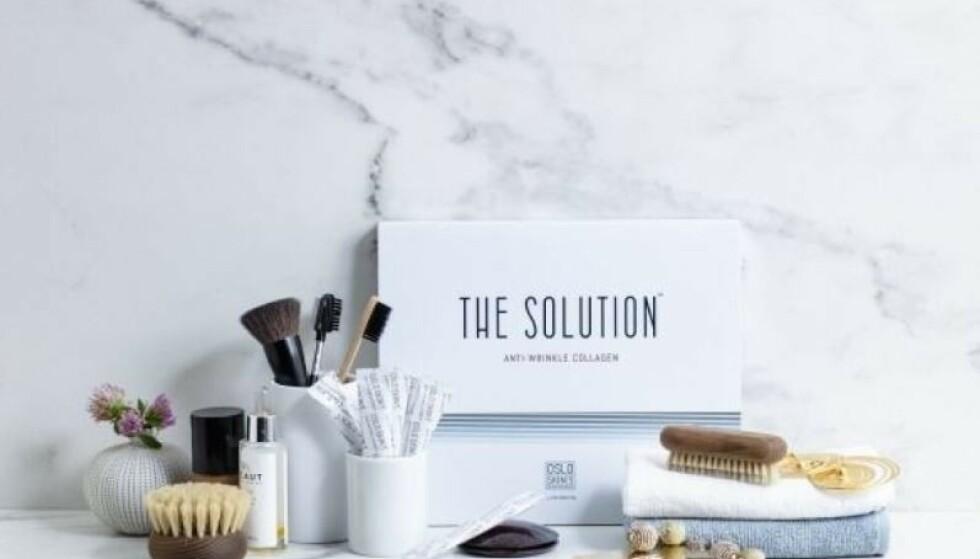 100% RENT KOLLAGENPULVER: The Solution er et smakløst kollagenpulver uten tilsetningsstoffer som pleier huden innenfra.