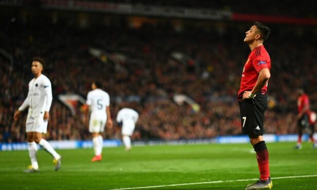 FRUSTRERT: Alexis Sanchez var ikke bestevenn med ballen tirsdag kveld. Foto: Shutterstock.