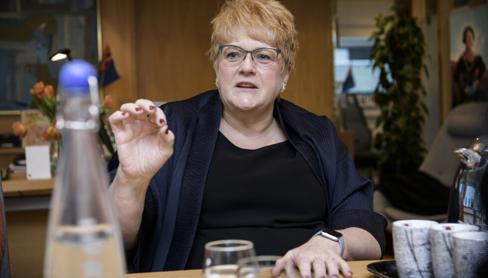 TÅLER KRITIKK: Enhver leder som ikke tåler å få høre at man bør gå av, bør ikke lede, sier Trine Skei Grande. Foto: Lars Eivind Bones / Dagbladet