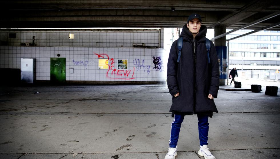 LEI ROMANTISERING: Rapperen Unge Beirut er lei av kollegenes beskrivelser av rusmiddelbruk. Foto: Kristin Svorte / Dagbladet
