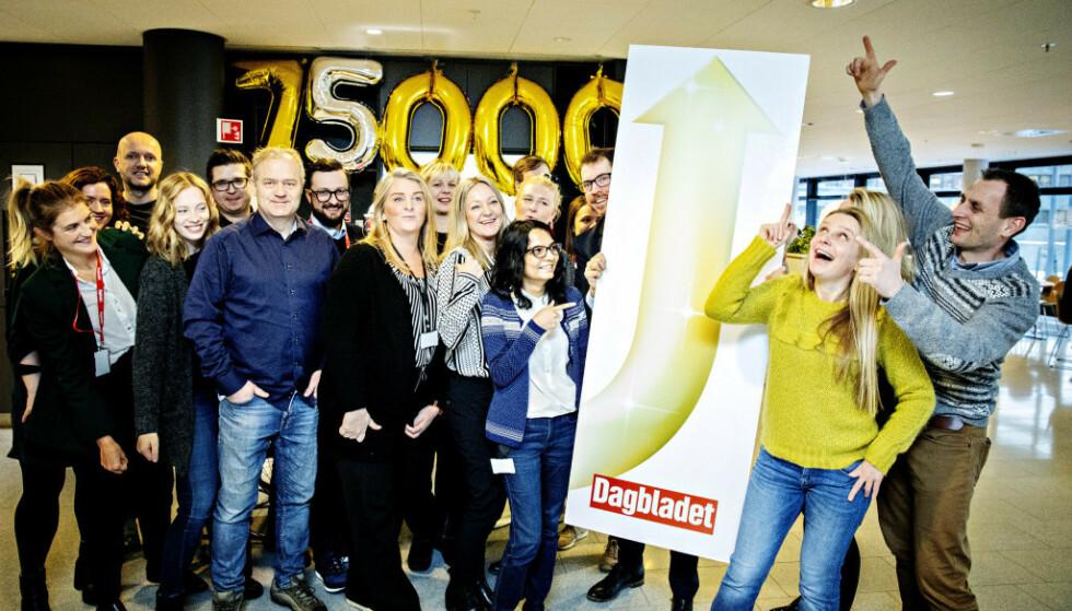 JUBELTALL: Dagbladet elsker når leserne flokker seg rundt Dagbladet. Mobilveksten er enorm, veksten på Dagbladet Pluss er svært høy og nå kommer alle som ser DagbladetTV.
