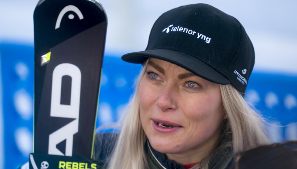 UTE RESTEN AV SESONGEN: Ragnhild Mowinckel falt stygt på trening tirsdag. Foto: Cornelius Poppe / NTB scanpix