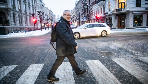 10 000 AV GANGEN: Bård Hoksrud prøver å gå 10 000 skritt hver dag. Foto: Dagbladet / Lars Eivind Bones