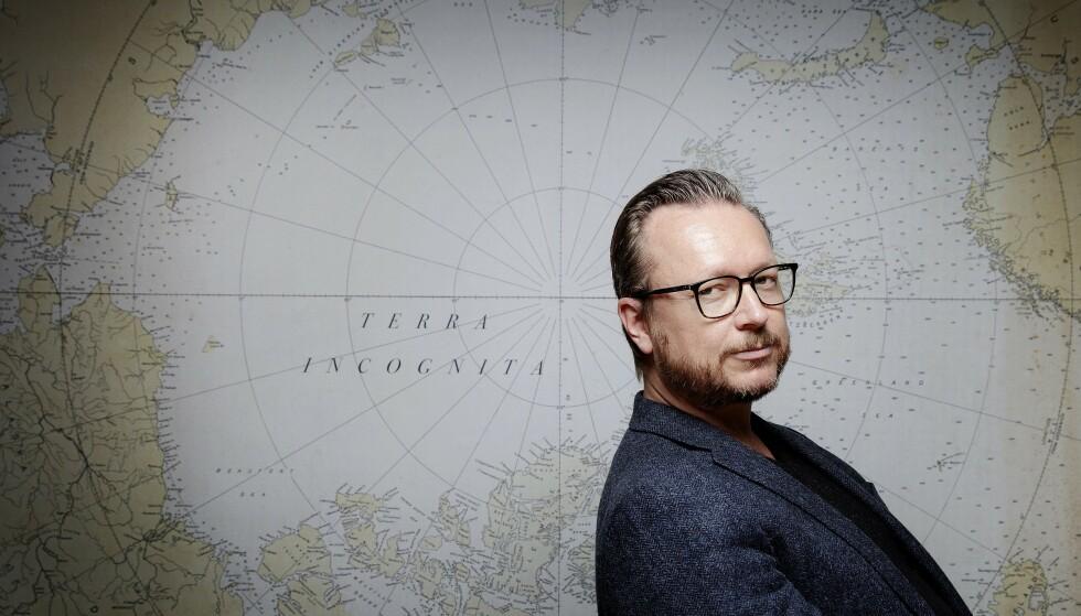 PÅ UKJENT GRUNN: Espen Sandberg har gjort suksess i Hollywood sammen med Joachim Rønning. Nå er han kinoaktuell i Norge med storfilmen «Amundsen», om polarfareren Roald Amundsen - alene.