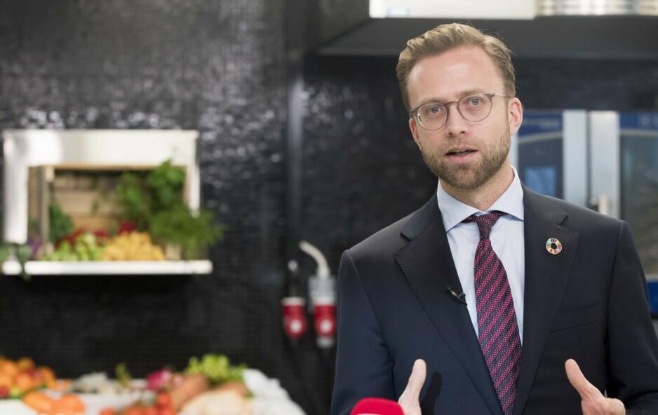 «SPYDSPISS»: - Vi jobber hver dag for at Norge fortsatt skal være blant spydspissene i digitaliseringen, sier fersk digitaliseringsminister Nikolai Astrup. Foto: Terje Pedersen / NTB Scanpix