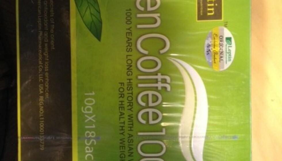 FARLIGE BØNNER: Grønn kaffe sendt fra Thailand inneholdt dopingmiddel. Foto: Tollvesenet